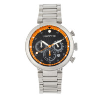 Morphic M87 Series Chronograph Bracelet Watch w/Date - Silver/White MPH8701