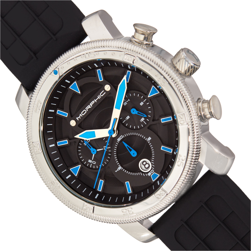 Morphic M90 Series Chronograph Watch w/Date - Black/Blue MPH9002