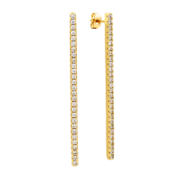 Sole Du Soleil Lily 18k Yellow Gold Plated Bar Drop Earrings SDS10719EO