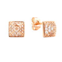 Sole Du Soleil Lupine 18k Rose Gold Plated Geo Earrings SDS10720EO