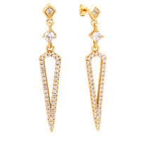 Sole Du Soleil Lupine 18k Yellow Gold Plated Prism Drop Earrings SDS10723EO