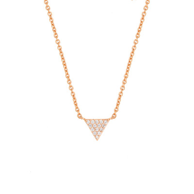 Sole Du Soleil Lupine 18k Yellow Gold Plated Marble Triangle Necklace SDS10795NO