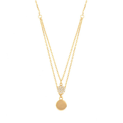 "Sole Du Soleil  Collier Satellite 16 ""en Plaqué Or Jaune 18 Carats Marigold SDS20221NO"