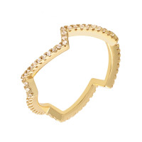 Sole Du Soleil Petunia 18k Yellow Gold Plated Zig Zag Ring SDS10816R7
