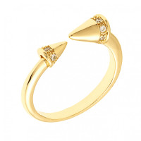 Sole Du Soleil Lupine 18k Yellow Gold Plated Spike Ring SDS10822R7