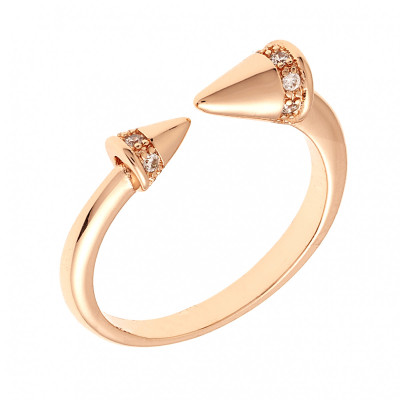 Sole Du Soleil Lupine 18k Yellow Gold Plated Triangle Ring SDS20181R7