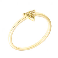 Sole Du Soleil Lupine 18k Yellow Gold Plated Stackable Triangle Ring SDS10828R7