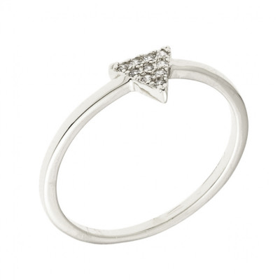 Sole Du Soleil Lupine 18k White Gold Plated Spike Ring SDS10821R7