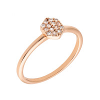 Sole Du Soleil Daffodil 18k Rose Gold Plated Stackable Ring SDS10852R7