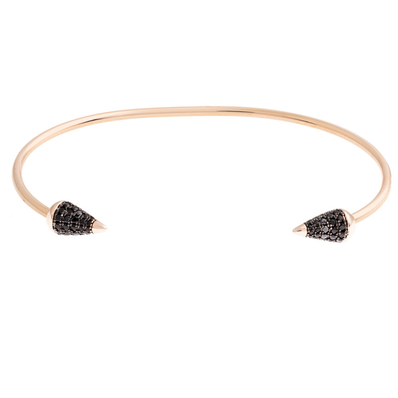 Sole Du Soleil Lupine 18k Rose Gold Plated Spike Bracelet SDS20150BO