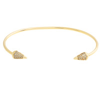 Sole Du Soleil Lupine 18k Yellow Gold Plated Spike Bracelet SDS20151BO