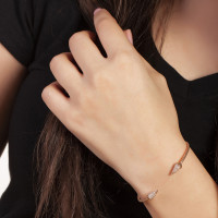 Sole Du Soleil Lupine 18k Rose Gold Plated Spike Bracelet SDS20152BO