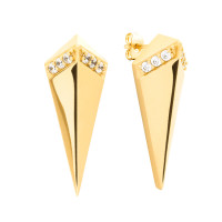 Sole Du Soleil Lupine 18k Yellow Gold Plated High Polish Prism Earrings SDS20166EO