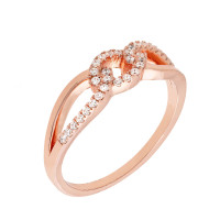 Sole Du Soleil Marigold 18k Rose Gold Plated Knot Ring SDS20170R7