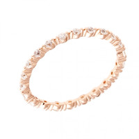 Sole Du Soleil Petunia 18k Rose Gold Plated Stackable Eternity Ring SDS20195R7