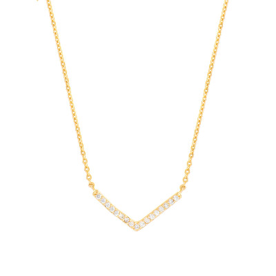 Sole Du Soleil Lupine 18k Rose Gold Plated Blue Triangle Necklace SDS10783NO