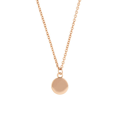 Sole Du Soleil Marigold 18k Rose Gold Plated Double Circle Necklace SDS10808NO