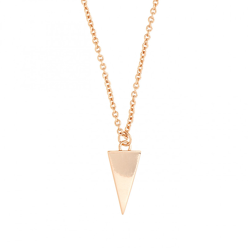 Sole Du Soleil Lupine 18k Rose Gold Plated Triangle Necklace SDS20275NO