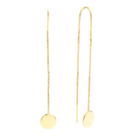Sole Du Soleil Marigold 18k Yellow Gold Plated Circle Threader Earrings SDS20277EO