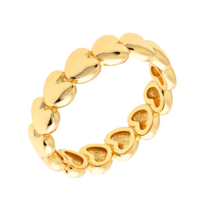 Sole Du Soleil Daffodil 18k Yellow Gold Plated Stackable Ring SDS10853R7