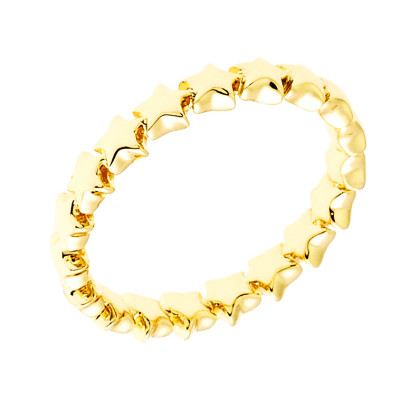 Sole Du Soleil Daffodil 18k Yellow Gold Plated Stackable Heart Ring SDS20291R7