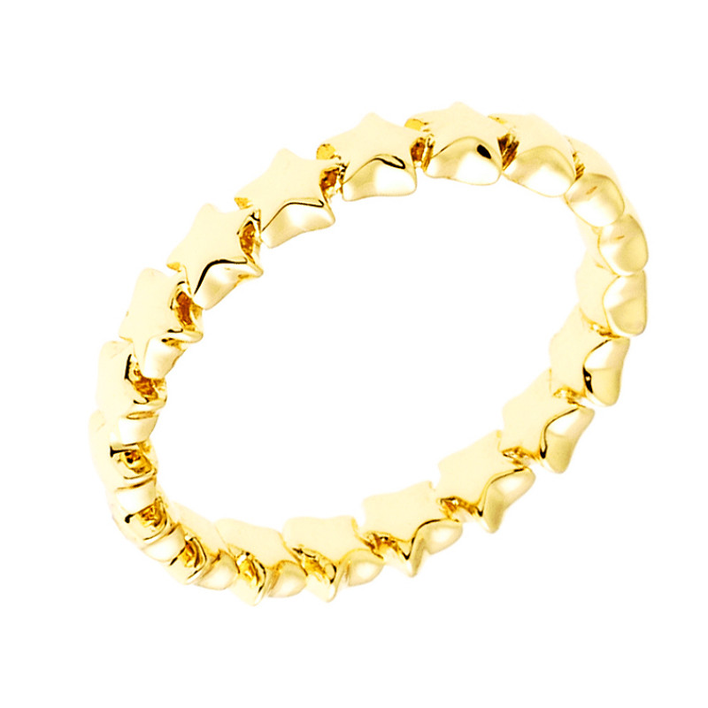 Sole Du Soleil Daffodil 18k Yellow Gold Plated Stackable Star Ring SDS20294R7