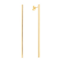 Sole Du Soleil Lily 18k Yellow Gold Plated Long Bar Earrings SDS20303EO