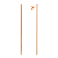 Sole Du Soleil Lily 18k Rose Gold Plated Long Bar Earrings SDS20304EO