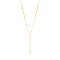 Sole Du Soleil Lily 18k Yellow Gold Plated Y Bar Necklace SDS20309NO