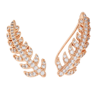 Sole Du Soleil Lily 18k Rose Gold Plated Crawler Earrings SDS20323EO
