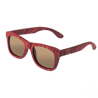 Spectrum Irons Wood Polarized Sunglasses - Cherry/Brown