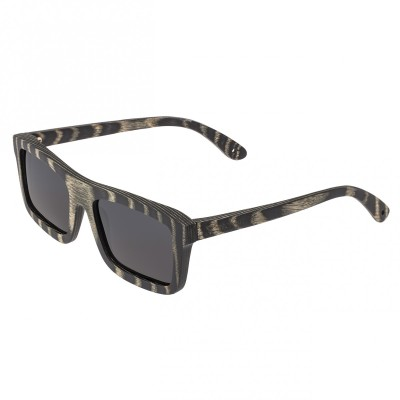 Spectrum Ward Wood Polarized Sunglasses - Black Stripe/Black
