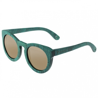 Spectrum Malloy Wood Polarized Sunglasses - Teal/Gold