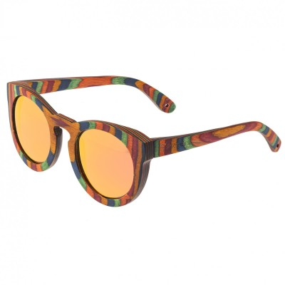 Spectrum Kekai Wood Polarized Sunglasses -Multi/Red-Orange