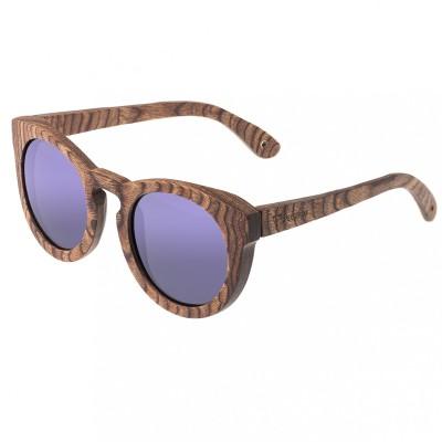 Spectrum Flores Wood Polarized Sunglasses -Brown/Purple