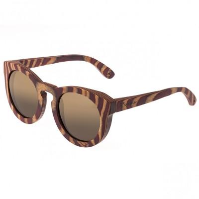 Spectrum Dorian Wood Polarized Sunglasses - Cherry Zebra/Brown