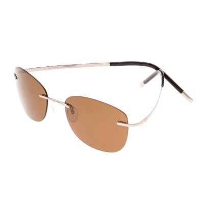 Simplify Matthias Polarized Sunglasses - Rose Gold/Brown