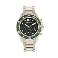 Breed Pegasus Bracelet Watch w/Day/Date- Black/Silver BRD8101