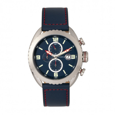 Morphic M64 Series Chronograph Leather-Band Watch w/ Date - Black/Green MPH6405