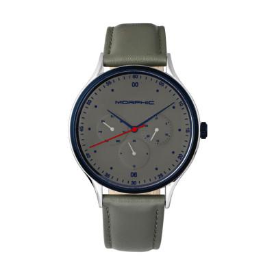 Morphic M65 Series Bracelet Watch w/Day/Date - Silver/Green MPH6502