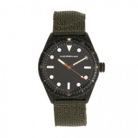 Morphic M69 Series Canvas-Band Watch - Silver/Black MPH6902