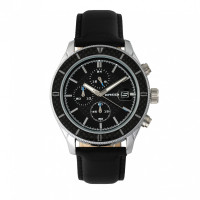 Breed Maverick Chronograph Leather-Band Watch w/Date - Gold/Black BRD7506