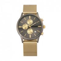 Breed Espinosa Chronograph Mesh-Bracelet Watch w/ Date - Silver BRD7601