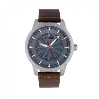 Breed Renegade Leather-Band Watch - Blue/Brown BRD7707