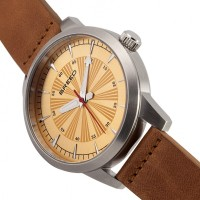 Breed Renegade Leather-Band Watch - Orange/Brown BRD7706