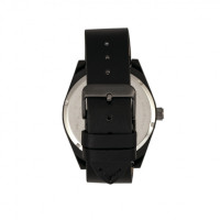 Breed Ranger Leather-Band Watch w/Date - Black BRD8007