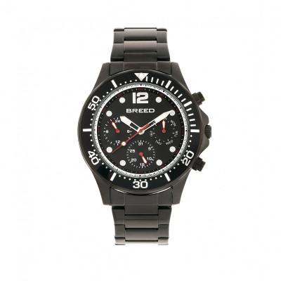 Breed Pegasus Bracelet Watch w/Day/Date- Blue/Silver BRD8103