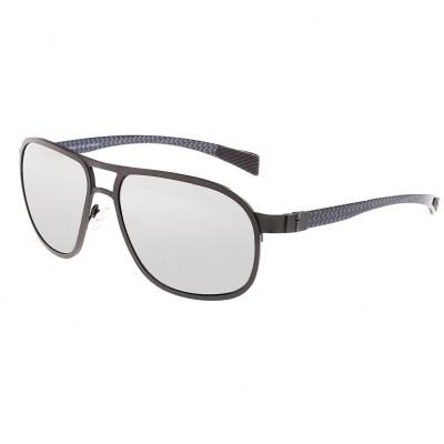 Breed Concorde Titanium and Carbon Fiber Polarized Sunglasses - Black/Black BSG001BK