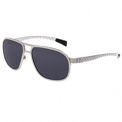 Breed Concorde Titanium and Carbon Fiber Polarized Sunglasses - Gunmetal/Silver BSG001GM