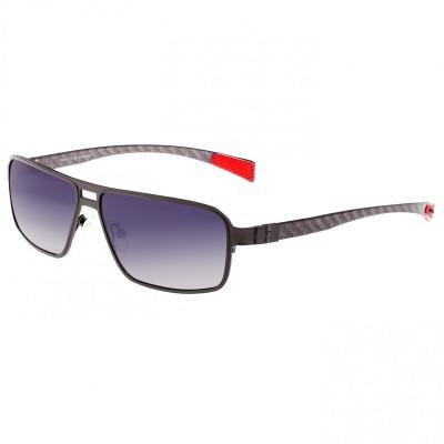 Breed Meridian Titanium and Carbon Fiber Polarized Sunglasses - Black/Gold BSG003BK
